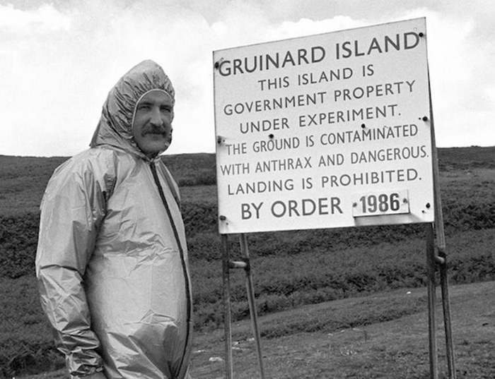 gruinard island biological warfare testing essay Welcome to gruinard island where the biological doomsday weapons once wiped out all mammal life just off the british mainland, in gruinard bay, half way between ullapool and gairloch in the scottish highlands, this has to be one of the most chilling places you can set foot on in the uk.